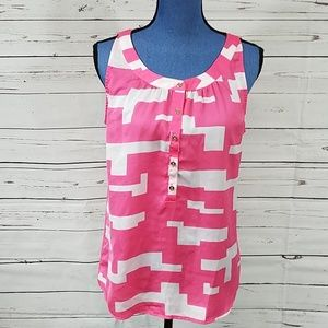 Kenneth Cole Pink & White Tank Top